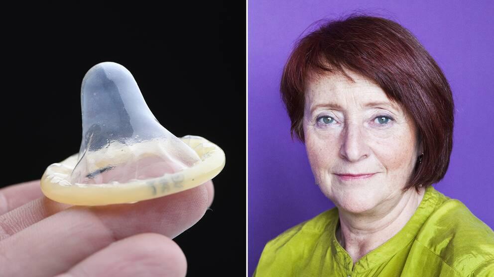 En kondom och Ingrid Frisk