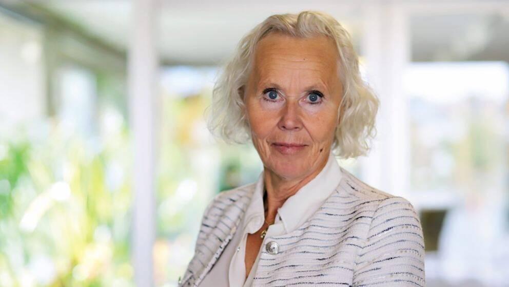 Porträtt på Lena Carlsson, sjukhusdirektör i Region Västernorrland.