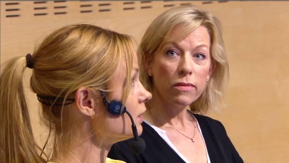 Malin Mendel, SVT och Ginna Lindberg, SR.