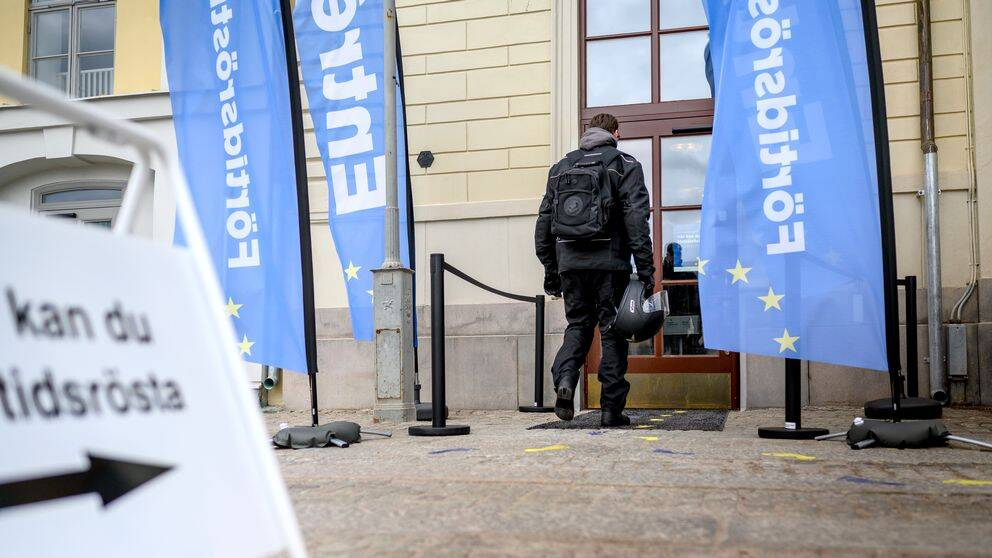 Förtidsröstning på Börshuset i Göteborg.