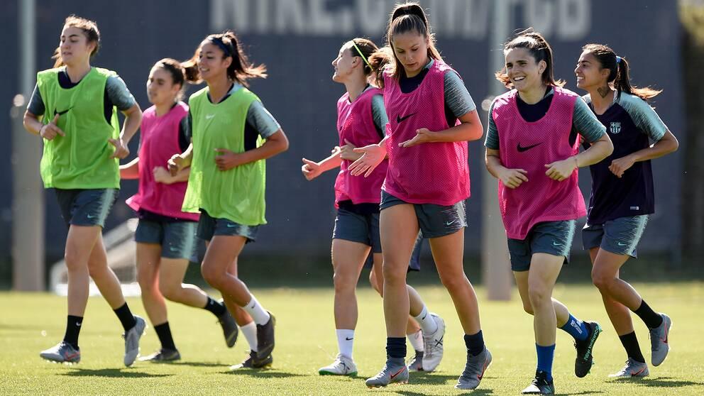 Barcelonas damer spelar klubbens första final i Champions League.