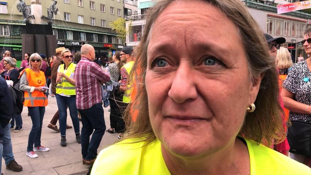 Catharina Niwhede, ordförande för Lärarnas Riksförbund i Malmö