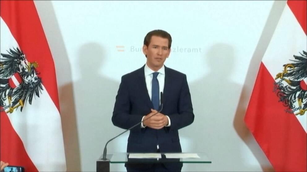 Österrikes förbundskansler Sebastian Kurz.