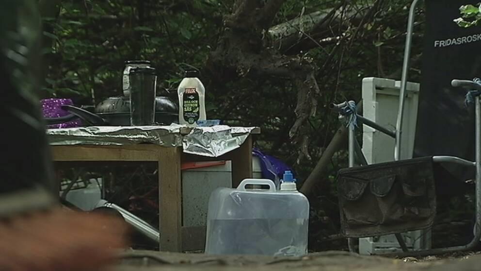 EU-migranter fick flytta in på Stenbrogårdens camping.
