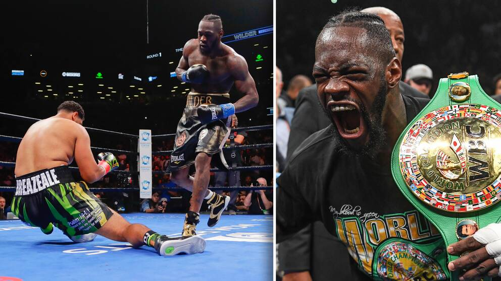 Deontay Wilder knockade Dominic Breazeale i nattens titelmatch i New York.