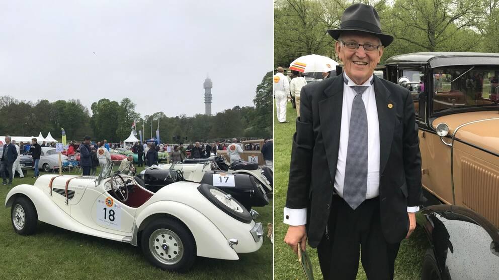 Veteranbilar på Gärdet. Rune Näsman.