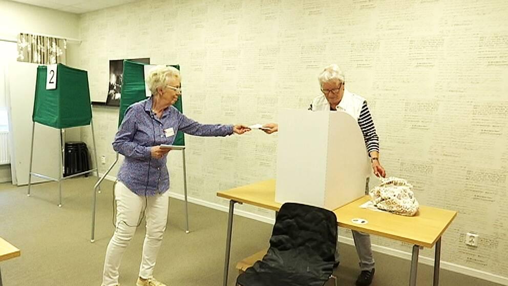 förtidsröstning i skärblacka utanför Norrköping