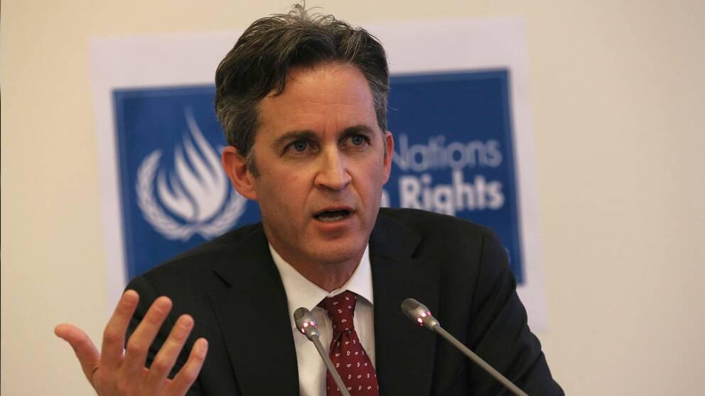 Förenta Nationernas rapportör för skyddandet av åsiktsfrihet och yttrandefrihet, David Kaye. Arkivbild.