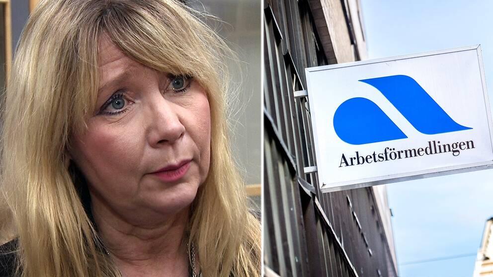 Anna-Lena Wakenius, arbetsförmedlingschef i Halland.