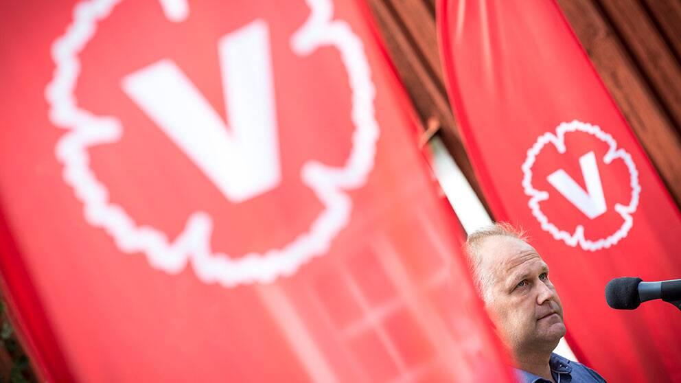 Vänsterpartiets partiledare Jonas Sjöstedt