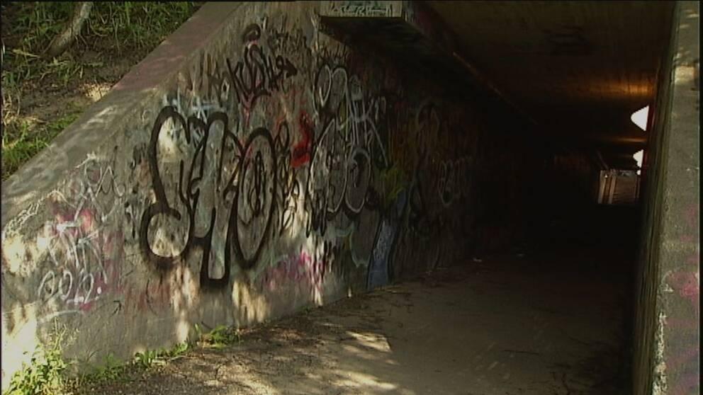 Man rånad i gångtunnel i centrala Sundsvall.