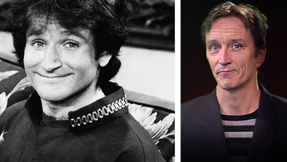 Robin Williams och Fredrik Sahlin