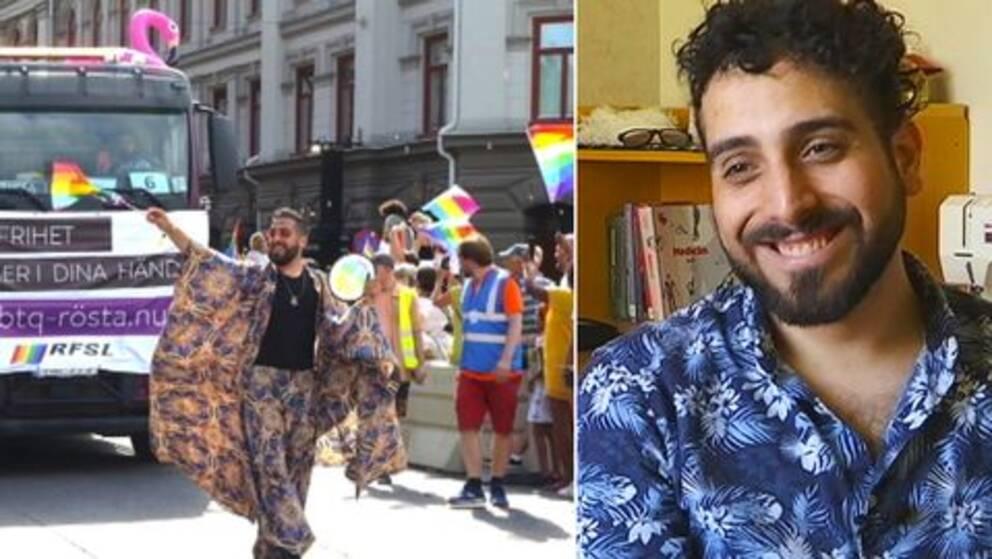 Ziad arrangerar Övertorneås första Prideparad.