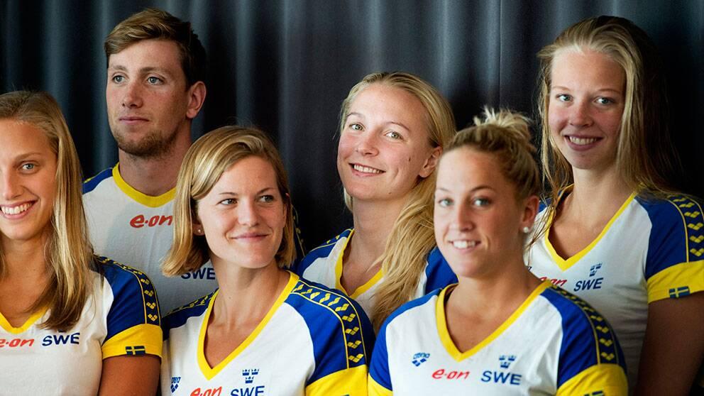 Sveriges tva forsta medaljer i sim em