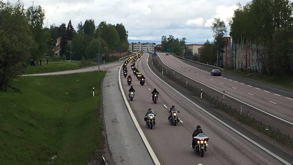 Motorcyklar på E4