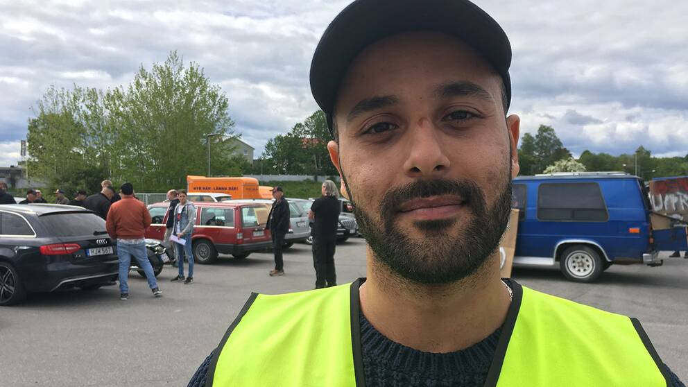 Ahmed Arkan demonstrerade mot höjda bränslepriser