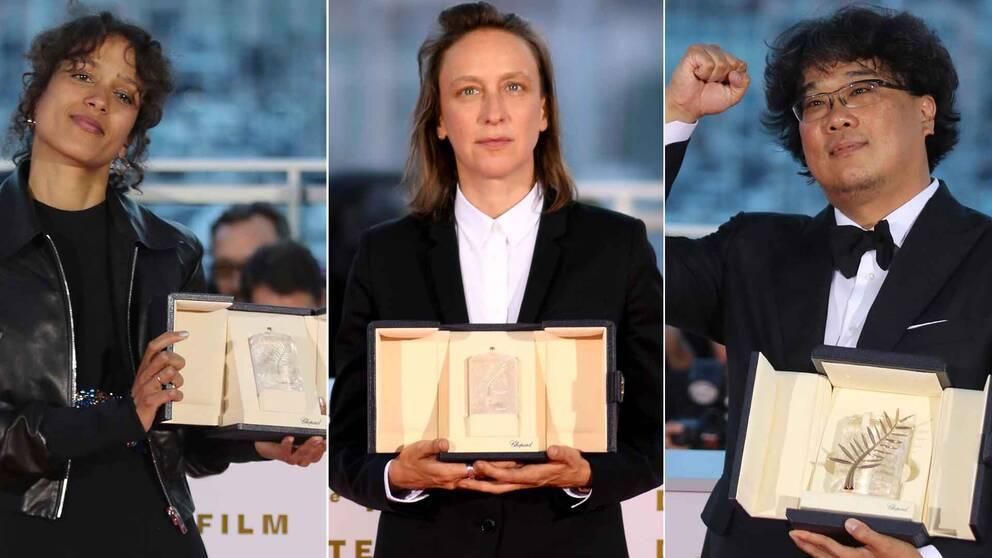 Mati Diop fick Juryns stora pris för Atlantique, Céline Sciamma vann Bästa manus för Portrait of a lady on fire och Bong Joon-Ho vann Guldpalmen för Parasite.