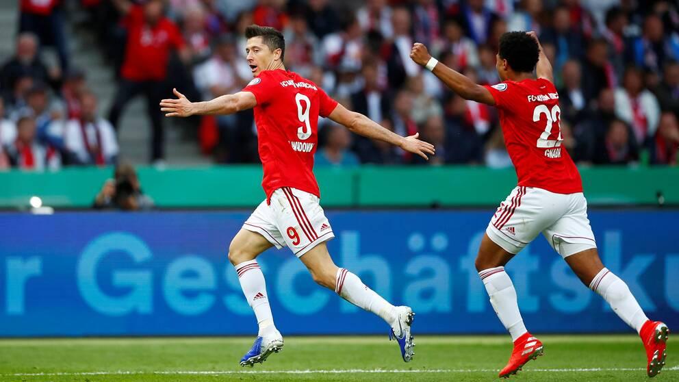 Robert Lewandowski blev tvåmålsskytt i finalen