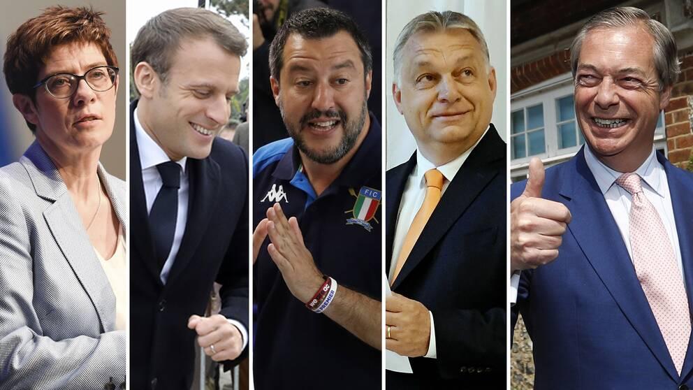 EU-valet är högintressant på många håll i Europa, inte minst för Merkel-efterträdaren Annegret Kramp-Karrenbauer i Tyskland, Frankrikes Emmanuel Macron, Italiens inrikesminister Matteo Salvini, Ungerns premiärminister Victor Orbán och brittiska The Brexit Party-ledaren Nigel Farage.