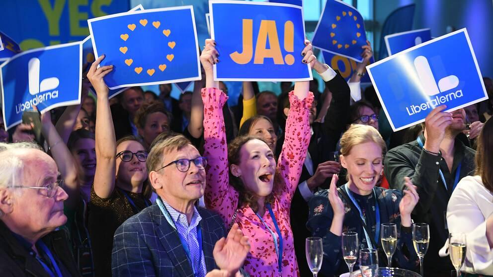 Liberalernas valvaka i Stockholm