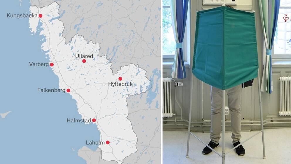 EU-val i Halland. Röstning.
