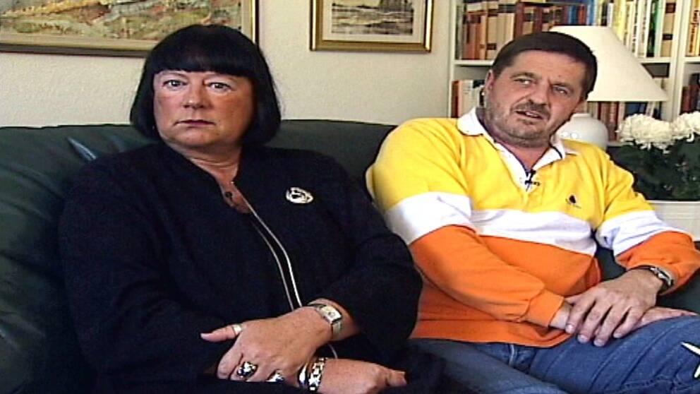 11-årige Johan Asplunds föräldrar Anna--Clara och Björn.