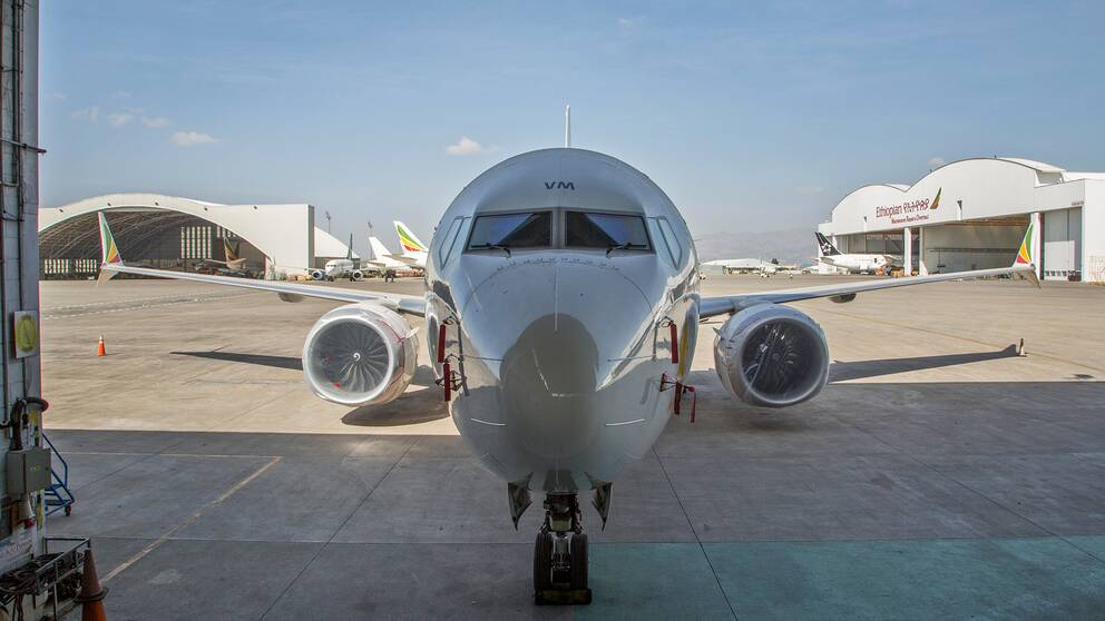 Ett Boeing 737 Max 8-plan som flögs av Ethiopian Airlines.
