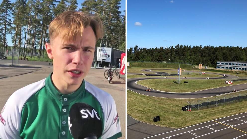 EM i karting arrangeras i Kristianstad. Flera skåningar är med och tävlar om förstaplatsen .Noah Milell är en av dem.