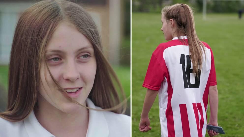 SVT träffade 14-åriga Darcie Barry i Wales, Cwmbran.