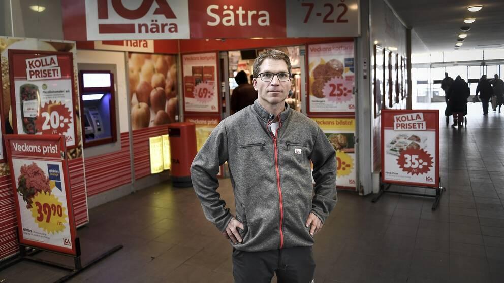 Ica handlaren i Sätra, Andreas Bylger