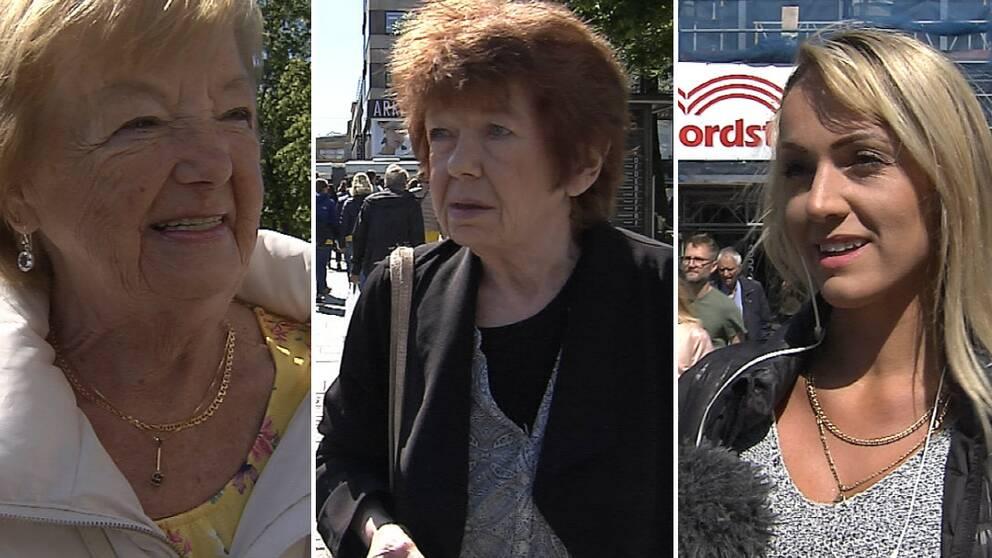 Mona Sjöö, Karin Högdahl och Maida Halilovic är några göteborgare som har åsikter om den nya tobakslagen och att askkopparna tas bort från bland annat busshållplatser och uteserveringar.