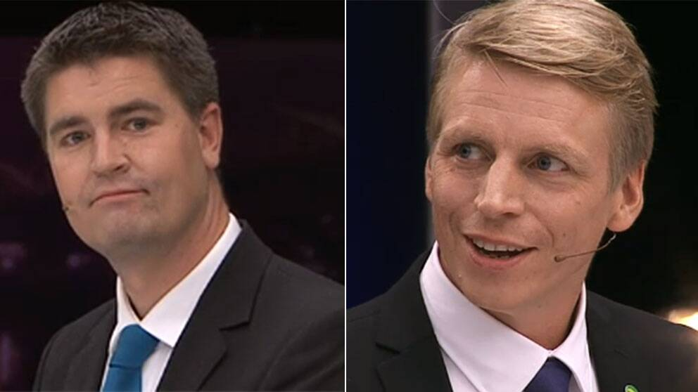 SD:s Oscar Sjöstedt och MP:s Per Bolund.