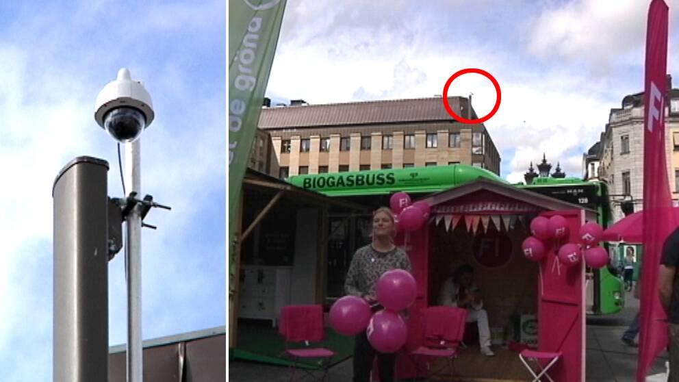 Torg kan kameraovervakas under valet