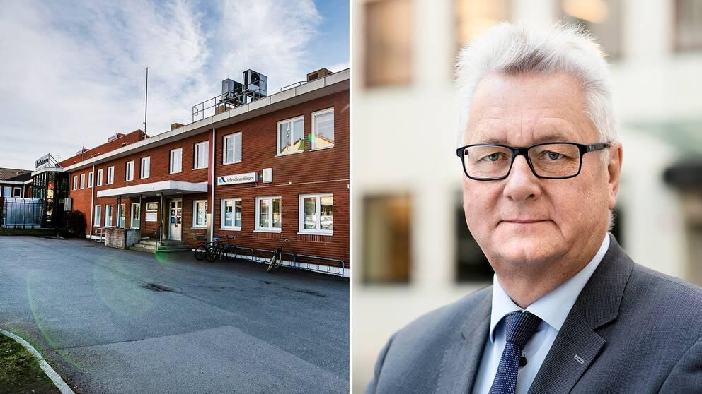 """""""Detta är så viktigt att vi anser att det bör följas upp av regeringen"""", säger riksrevisor Stefan Lundgren. På bilden till vänster syns Arbetsförmedlingen i Lessebo."""