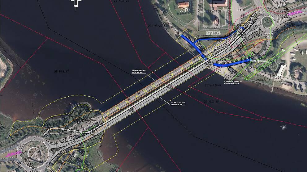 En ny 320 meter lång bro ska byggas över Kalix älv.