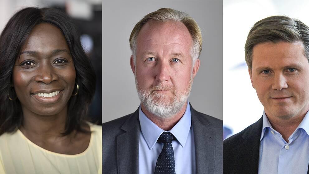 Nyamko Sabuni, Johan Pehrson och Erik Ullenhag vill alla bli ny partiledare för Liberalerna.