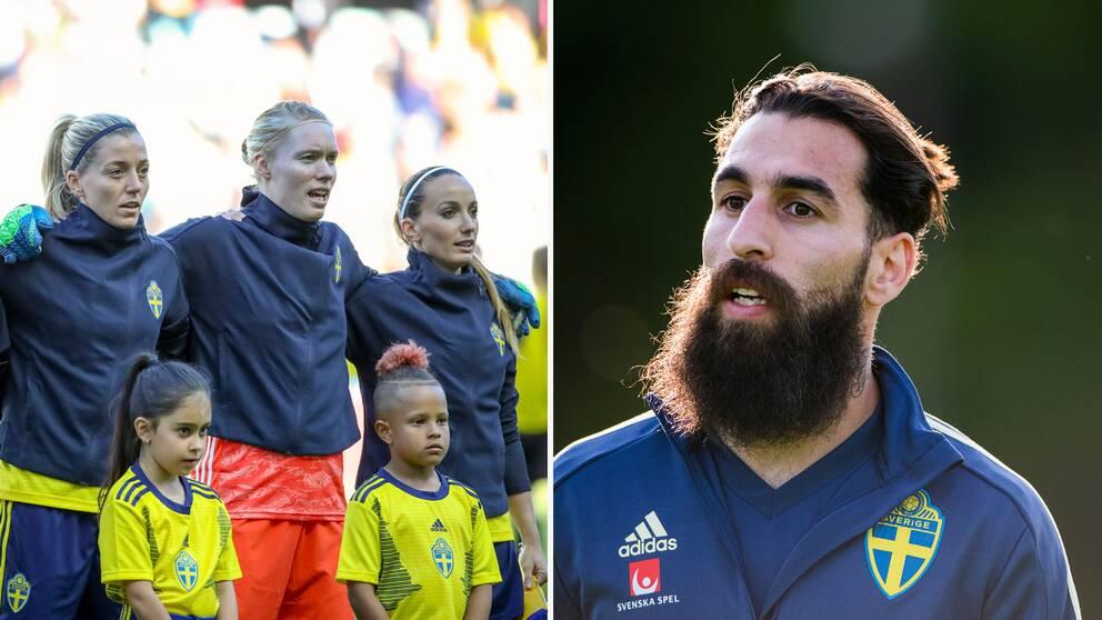 Herrlandslagets Jimmy Durmaz skänker all sin EM-kvalbonus till damlandslaget.