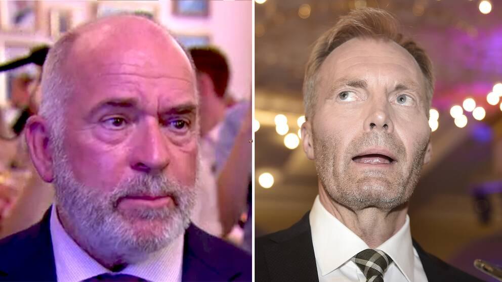Dansk Folkepartis viceordförande Sören Espersen och ledamot Peter Skaarup.