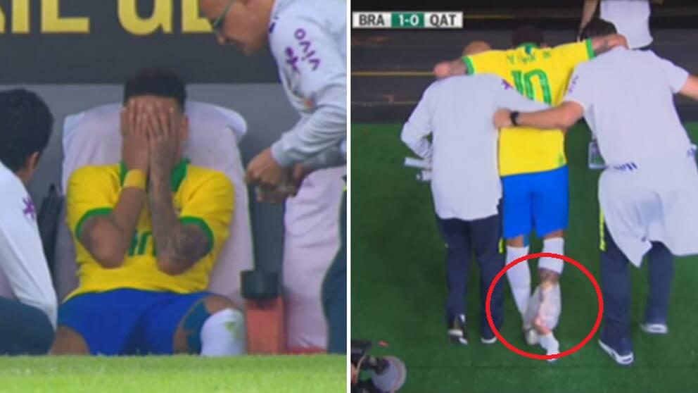 Neymar i tårar efter ny skada på högerfoten. Nu missar han Copa América.