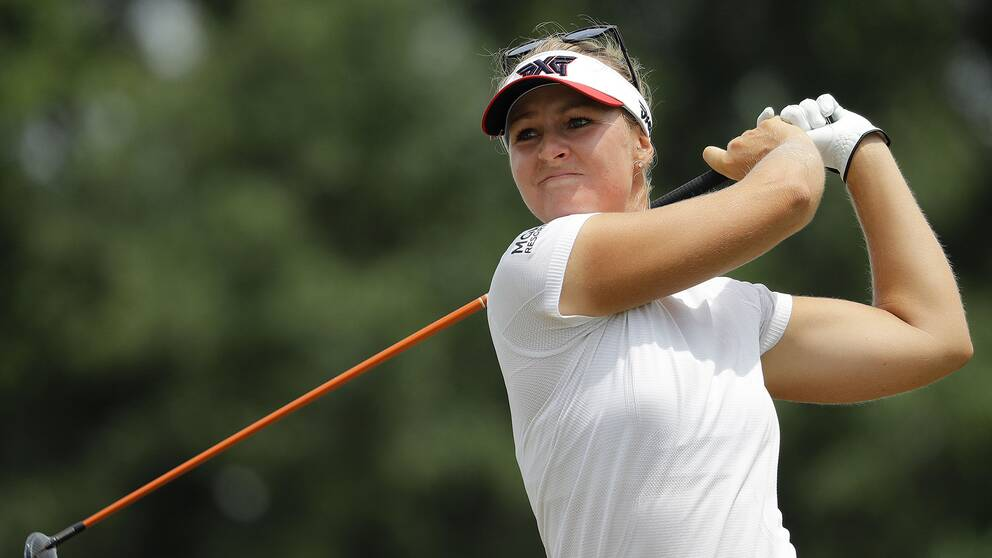 Anna Nordqvist under US Open för två veckor sedan.