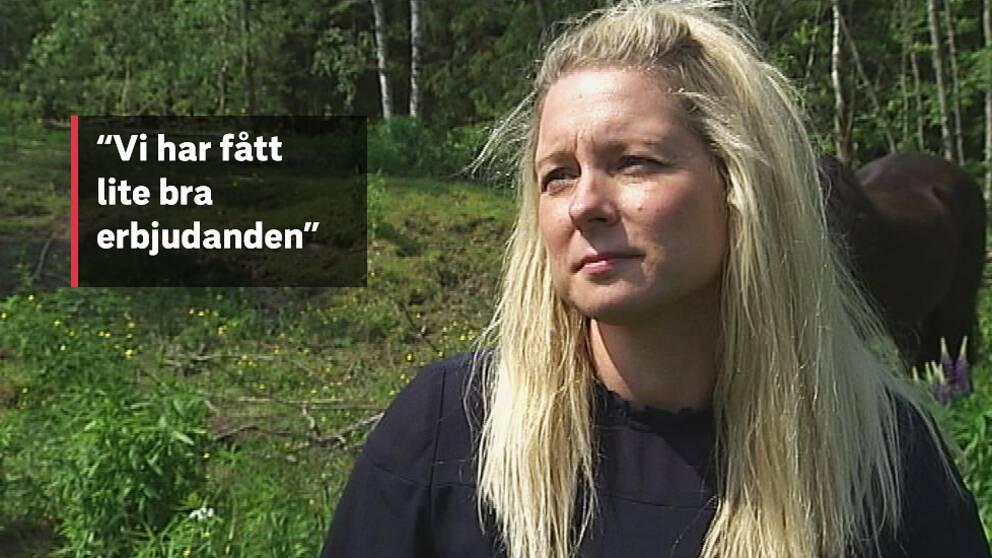 Hästägaren Liv Prestberg från Munkfors är nöjd med betesförmedlingen