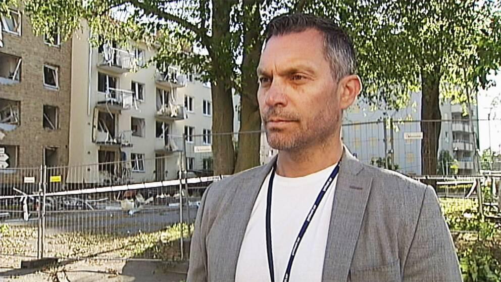 Daniel Axelsson, chef grova brott i Linköping.