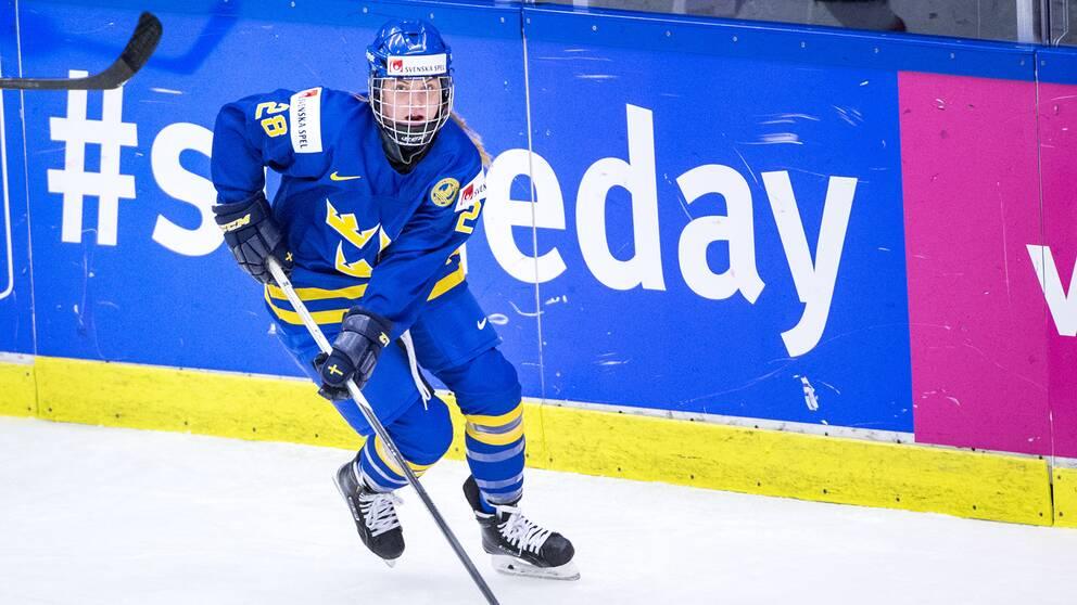 Michelle Löwenhiem i landslaget 2015