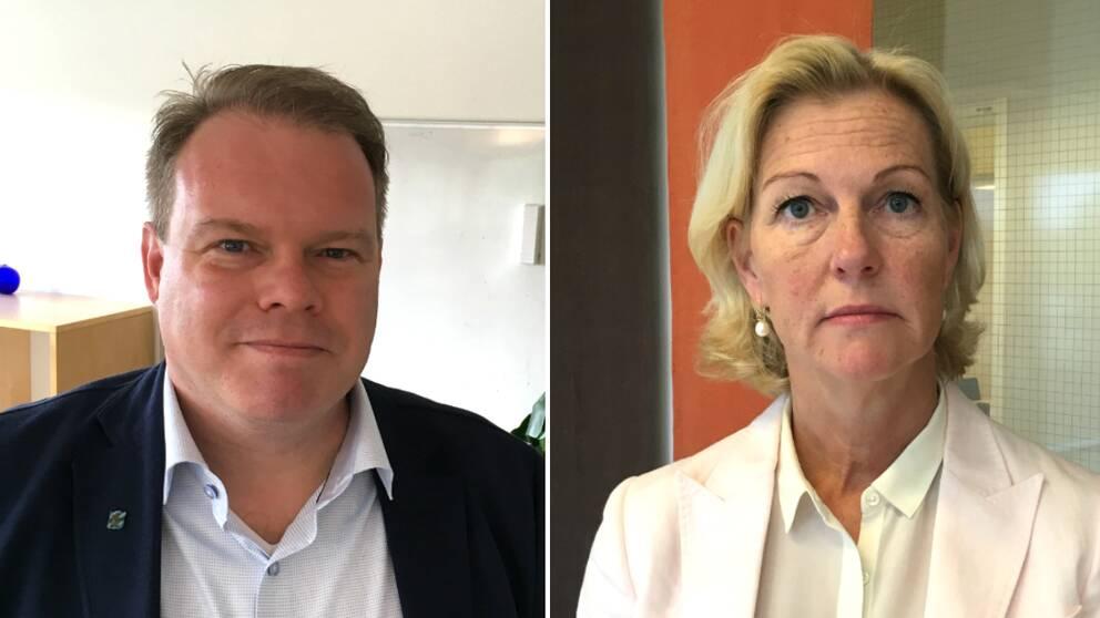 Andreas Lökholm, förvaltningschef för vuxenutbildningen i Göteborg, och Ulla Gustafsson, affärschef för Lernia.