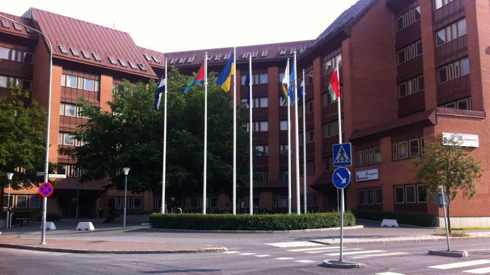 Byggnaden där vitryska ambassaden huserar på Lidingö i Stockholm. Foto: SVT