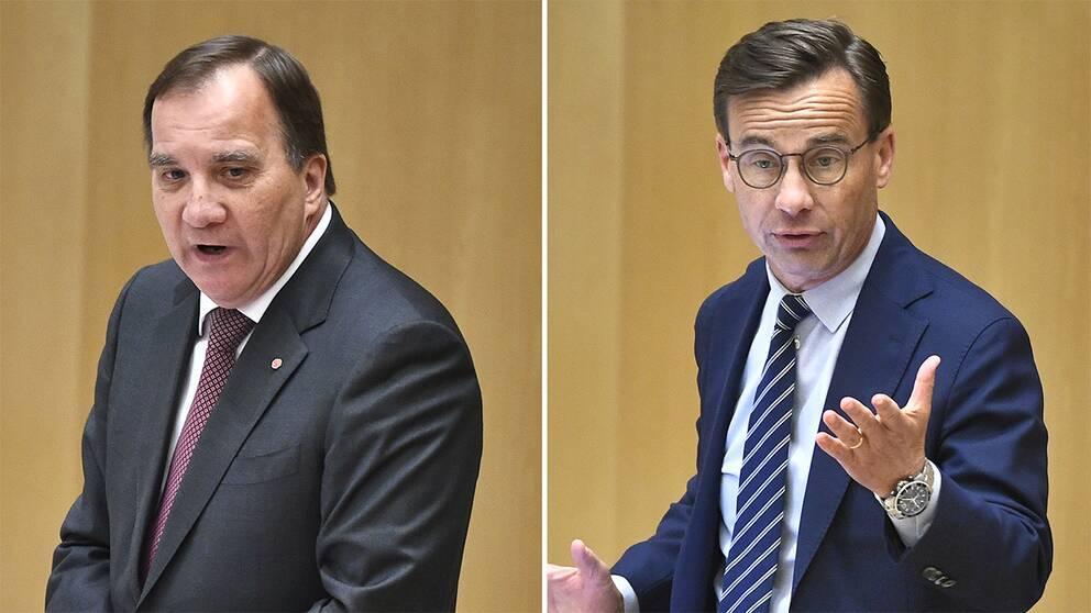 Stefan Löfven, Socialdemokraterna och Ulf Kristersson, Moderaterna.