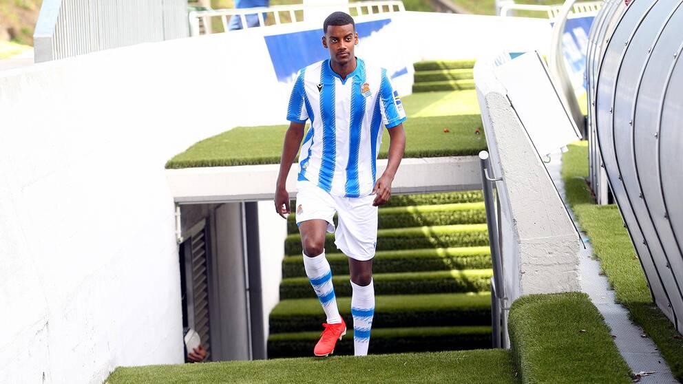 Isak, för första gången i Real Sociedads tröja.