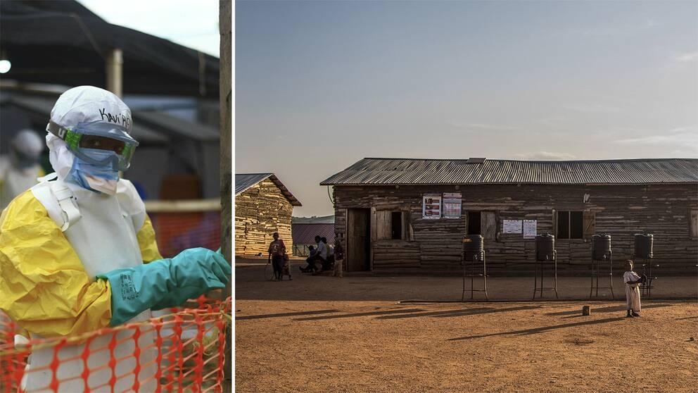 Bild från hälsoarbetare i Kongo och från flyktingförläggning i Uganda.