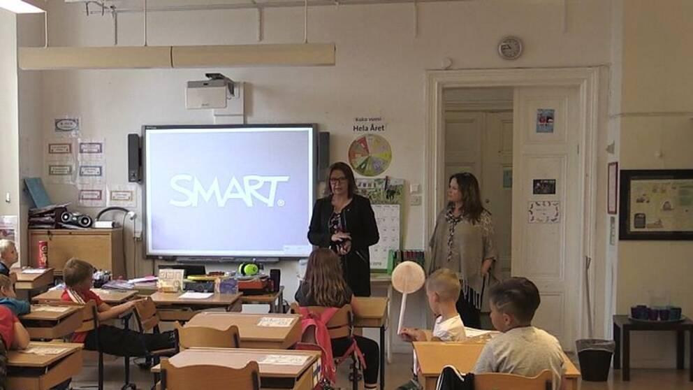 Erkki-koulun luokkahuone