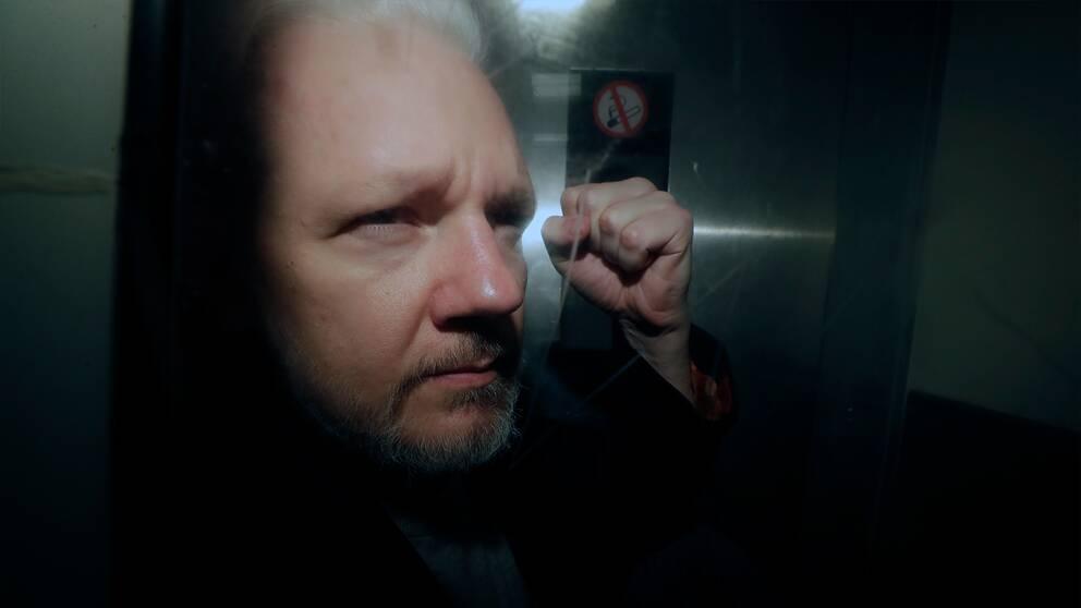 Under fredagen tas Julian Assange eventuella utlämning upp i brittisk domstol. Arkivbild.